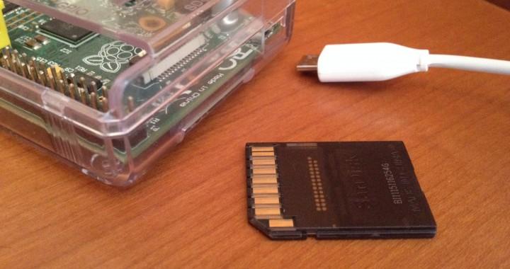 Raspberry Pi con tarjeta